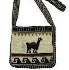 Long-Shoulder Strap Alpaca Hand Bag