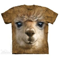 Big Face Alpaca Tie-Die Tee Shirt