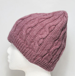 Heirloom Cable Knit Beanie Cap DYED