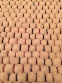 Photo of Hand Woven Marshmallow Alpaca Rug