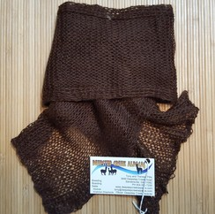 Photo of Suri Dark Brown Handcrafted Scarf