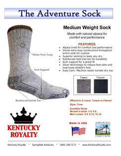 Kentucky Royalty Adventure Sock