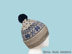 SNOWFLAKE Pom Pom knit hat