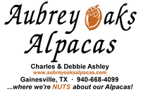 Aubrey Oaks Alpacas - Logo
