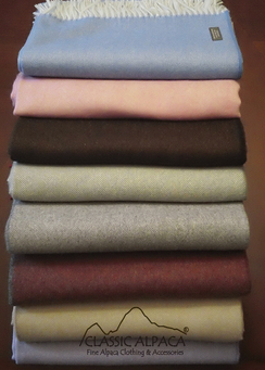 Photo of 100% Baby Alpaca Throws-herringbone