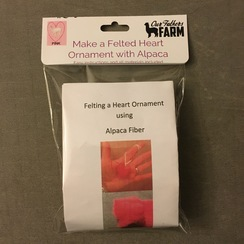 Needle Felting a Heart Ornament