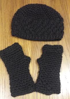 Hat & FIngerless Gloves