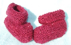 Photo of  Hand Spun & Knit Infant Booties