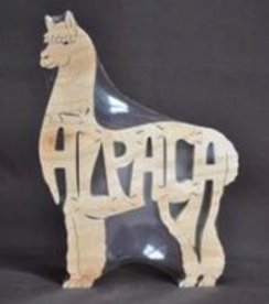 Hand Crafted Wooden Alpaca Puzzle