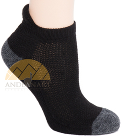 Photo of Alpaca Running Cushioned Tab Ankle Socks