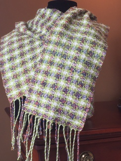 Photo of Colorful Pinwheel Scarf