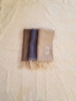 Herringbone woven scarf