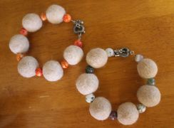 Fiber Felted Bracelet (Ewok)