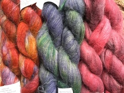 78% Suri Alpaca Yarn - Halo Watercolors