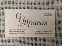 Glade Hill Alpacas, LLC - Logo