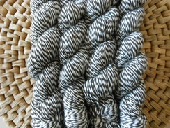 Black/White Barberpole Yarn