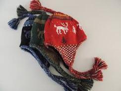 Alpaca Knitted Moose Hats