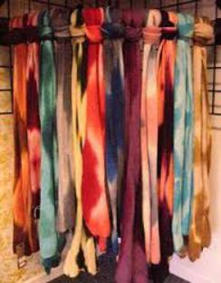 Photo of Tie Dyed Alpaca Scarves