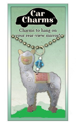 The Whimsical Alpaca Car Charm