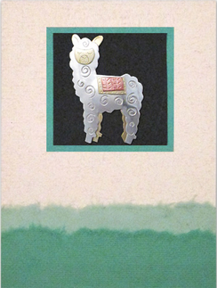 Whimsical Alpaca Pin Card