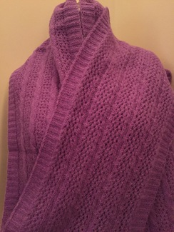 Photo of Cable & Lace Scarf [DYED]