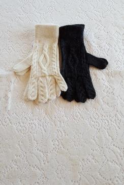 Photo of Alpaca Aran Cable Gloves