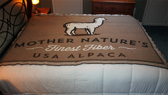 Mother Nature's Alpaca Fiber Blanket