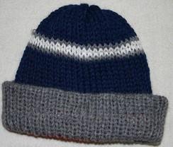 100% Baby Alpaca Reversible Stocking Hat