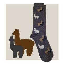 Red Maple Alpaca Sock