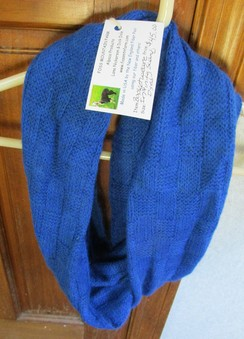 Basketweave Dyed Infinity Scarf