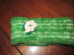 Green Felted Head Band