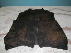 Alpaca Vest Black & Brown Varigated