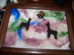 Hand felted picture