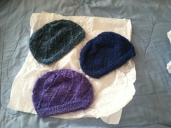 Photo of Hand Spun, Hand knit Hats