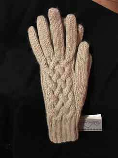 Photo of Ladies Snake Cable Knit Gloves