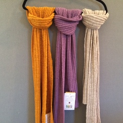 3x3 Ribbed Knit Scarf