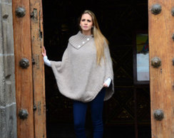 "Photo of Alpaca Poncho ""Juliana"""