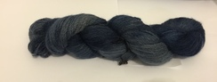 Hand Spun/Dyed Cria Yarn (Navy Blue)