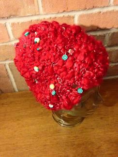 OOAK HandSpun Art Yarn Knit Hat
