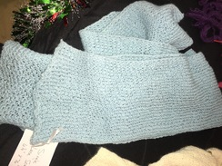 Photo of Teal Blue Single Knit Lace Scarf