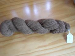 Photo of Hand spun dark fawn yarn