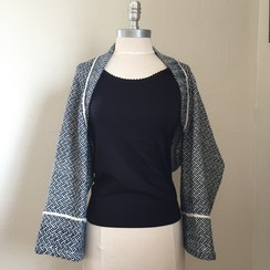 Photo of Woven Shrug-Blue
