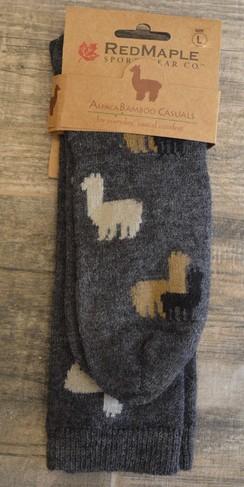Alpaca Motif Socks