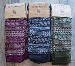 Fair Isle Alpaca Knee Socks