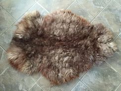 Tanned leather alpaca hides