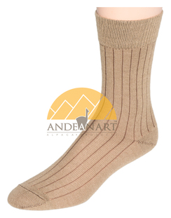 Photo of Wide Ribbed Alpaca Dress Socks