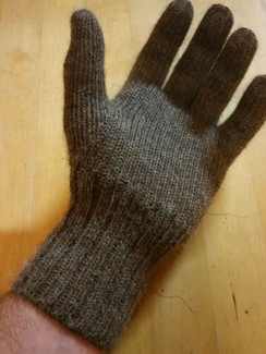 Photo of Full Fingered Knit Alpaca Gloves
