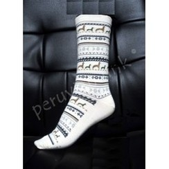 Photo of Alpaca Print Crew Socks