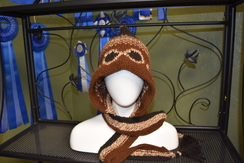Photo of Peruvian Hat with attached Scarf