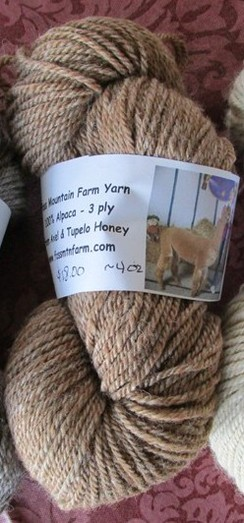 Alpaca Tweed yarn - Axel & Tupelo Honey